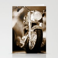 motorbike Stationery Cards featuring Motorbike-Sepia by Yar's Photography