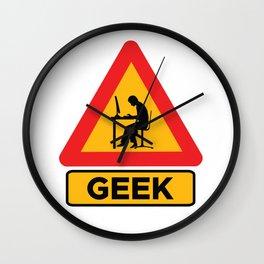 Geek Sign Wall Clock