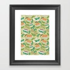 Tea Time Pattern Framed Art Print