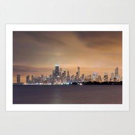 Chicago from Montrose Harbor Art Print