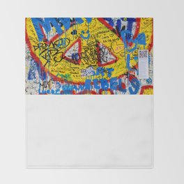 Berlin Wall Throw Blanket