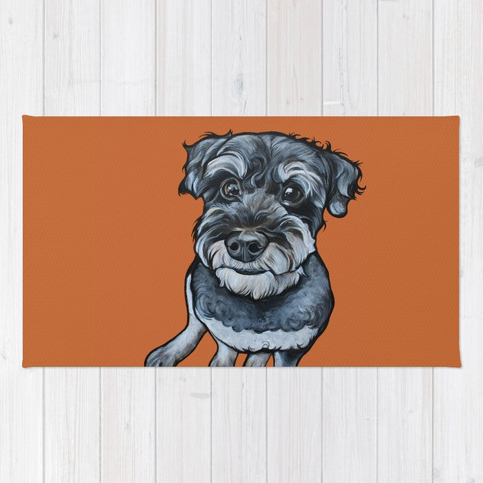 Frankie the Schnoodle Rug