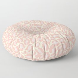 Leopard Print | Pastel Pink Girly Bedroom Cute | Cheetah texture pattern Floor Pillow