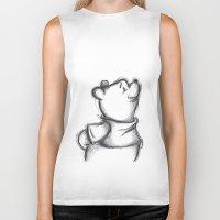 pooh Biker Tanks featuring Insightful Pooh by Makayla Wilkerson