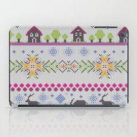 knitting iPad Cases featuring Winter Knitting by Ornaart