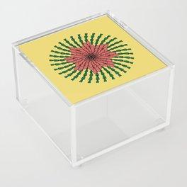 coral flower Acrylic Box