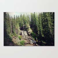 ashton irwin Canvas Prints featuring Irwin Falls by Teal Thomsen Photography