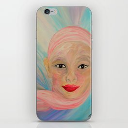 Bald is Beauty with Brown Eyes iPhone Skin