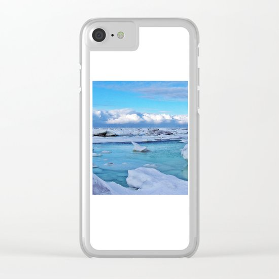 Frozen, and clouds on the Horizon Clear iPhone Case