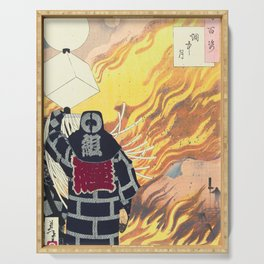 Moon and Smoke , Japanese Firefighter Serving Tray