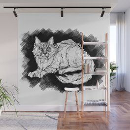 Dio the Maine Coon Wall Mural