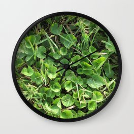 Summer Time Green Wall Clock