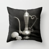 arab Throw Pillows featuring Arab Nights by Brian Raggatt
