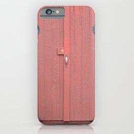 Red Port Hole Door iPhone Case