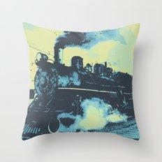 Morning train 1946 Throw Pillow