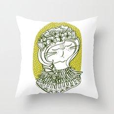 Spring Cat Lady  Throw Pillow