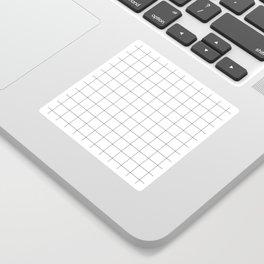 White Grid  /// www.pencilmeinstationery.com Sticker