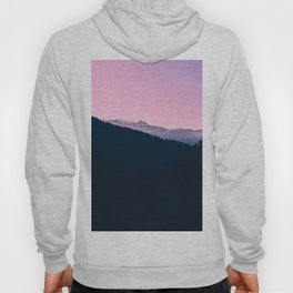 Pink Sunset Rolling Hill Silhouette Landscape Photo Hoody