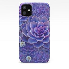 """""""Bouquet of pastel violet exotic succulents"""" iPhone Case"""