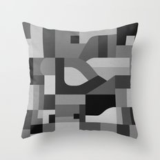 Langley Tex Black and White Throw Pillow