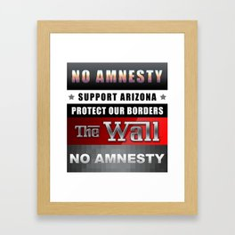 Protect Our Borders Framed Art Print