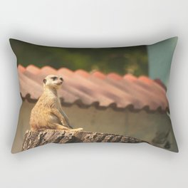 Meerkat Funny Observer #decor #society6 Rectangular Pillow