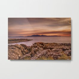 Arran Sunset Metal Print