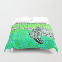 eric fan Duvet Covers featuring New Friends 1 by Eric Fan and Garima Dhawan by Eric Fan