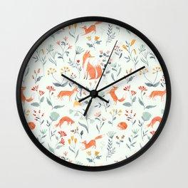 Fox & Kits Wall Clock