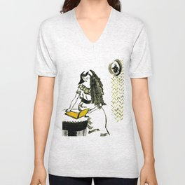 Reading girl Unisex V-Neck