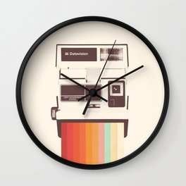 Instant Camera Rainbow Wall Clock