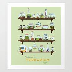 Kristina Terrarium Art Print