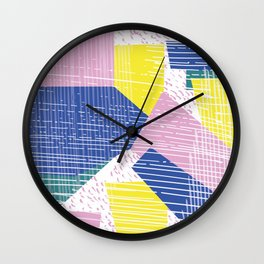 Addicted to Collage Wall Clock