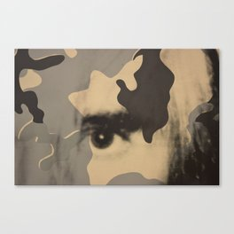 Eye surimpression Canvas Print