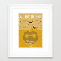breaking bad Framed Art Prints featuring BREAKING BAD by Vloh