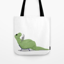 T-Rex by the pool Tote Bag