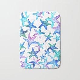 Watercolor Starfish Bath Mat