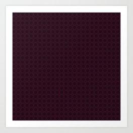 Dark Merlot Wine Circle Pattern Art Print
