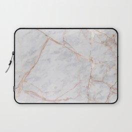 White Italian Marble & Gold Laptop Sleeve