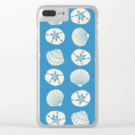 Sea Shells Blue Clear iPhone Case
