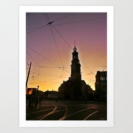 Tracks and Wires Art Print