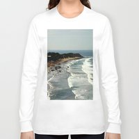 rowing Long Sleeve T-shirts featuring Torquay Heads - Rowing Regatta - Australia by Chris' Landscape Images & Designs