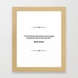 Mark Twain Quote Framed Art Print