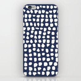 Dots / Navy iPhone Skin