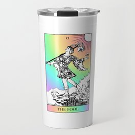 0. The Fool- Pastel Rainbow Tarot Travel Mug