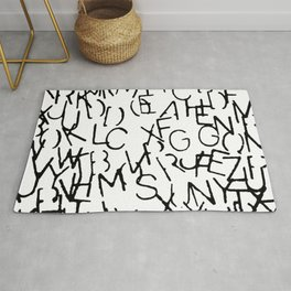 Stenciled Letters Rug