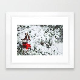 a winter scene Framed Art Print