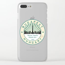 Budapest, Heroes' Square, Hosök tere, Hungary, circle Clear iPhone Case