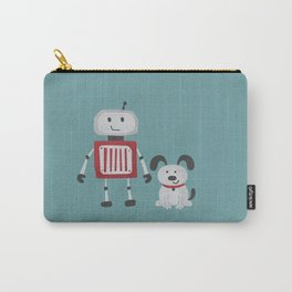 Best Friends - Robot and Dog Carry-All Pouch