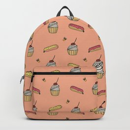 Cupcakes and eclairs Backpack